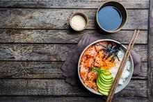 Hawaiian Salmon Poke Bowl With...