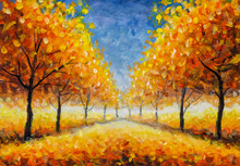 Autumn Impressionism Oil Paint...
