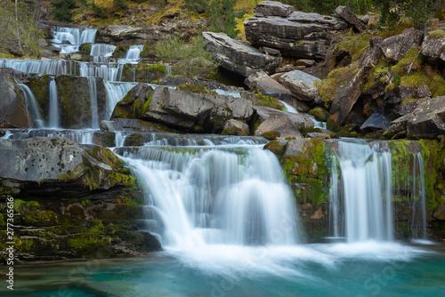 Falls on Arazas River at Gradas De Soaso, Ordesa and Monte Perdido National Park, Huesca, Spain