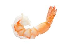 Shrimp Of Boiled Prawn Seafood Isolated White Background
