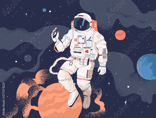Photo  Astronaut exploring outer space