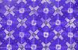 canvas print picture - Traditional ornate portuguese decorative tiles azulejos