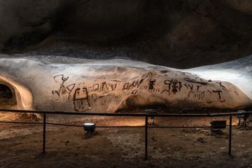 Prehistoric mural drawings in Magura cave, Bulgaria