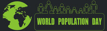 World Population Day Banner. D...