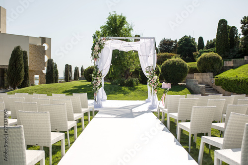 Foto Beautiful outgoing wedding set up