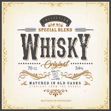 Vintage Whisky Label For Bottl...