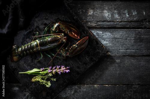 Sea delicacies. Fresh seafood. Lobsters Fototapete