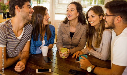 Friends at the cafe - 277385837