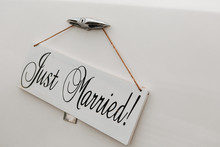 Just Married On White Vintage ...
