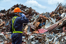 Workers In Landfill Dumping, G...