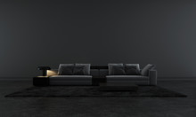 Modern Black Lounge And Living...