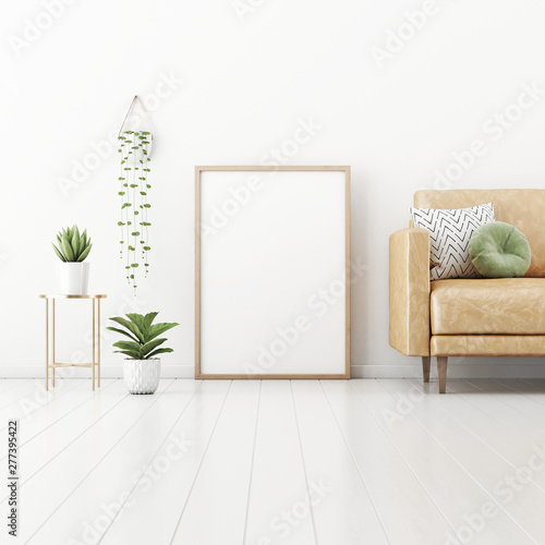 Surprising Poster Mockup With Vertical Frame Standing On Floor In Gmtry Best Dining Table And Chair Ideas Images Gmtryco