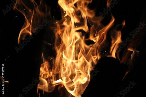 Keuken foto achterwand Vlam Fuego en fogata