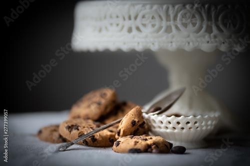 Photo  Kaffee und Kuchenzeit mit leckeren Keksen