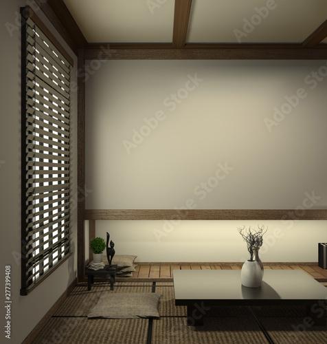 japan living room tatami mat and traditional japanese ...