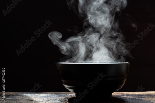 Bowl of hot soup Canvas Print