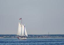 Three-masted Sailboat Under Fu...