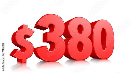 Fotografia  380$ Three hundred and eighty  price symbol