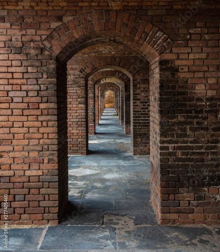 Photo Red Brick Frame in Frame in Frame