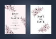 wedding invitation card template with text. Adapt to covers design, RSVP, brochure, Packaging, Magazine, Poster and Greeting cards. eps10