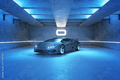 Foto Blue sports car