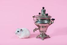 Samovar On A Pink Background. ...