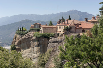 Fototapeta na wymiar Orthodox monasteries of Meteora (Greece)