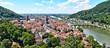 Stadt Heidelberg von oben mit der Karl Theodor Brücke