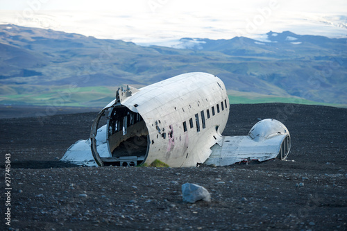The abandoned DC-3 Airplane on Solheimasandur beach Canvas Print