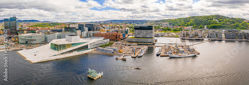 Photo Aerial panoramic view of the Opera House and new business quarter