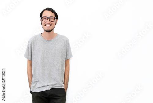 Cuadros en Lienzo Attractive beautiful positive happy asian man
