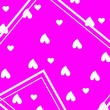 canvas print picture - Abstract background with heart and pink colour