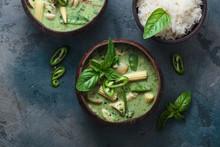Green Curry With Chicken Or Kang Keaw Wan Gai, Thai Cuisine