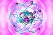 Leinwanddruck Bild - Atomic Particle 3D Illustration