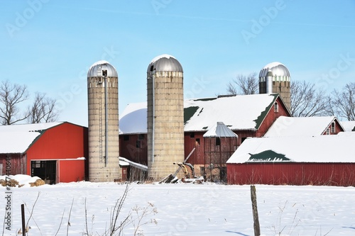 Red Barns and Concrete Silos