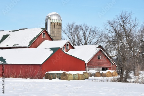 Red Barns and Silo
