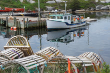 Wooden Lobster Traps And A Fis...