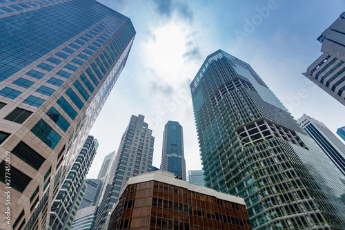 Skyscrapers in Singapore financial district