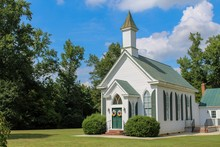 Small Quaint Country Church On...