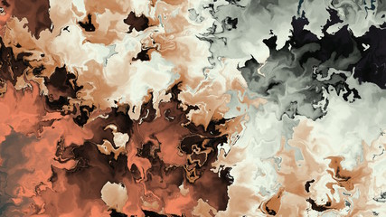 Abstract painting of colorful watercolor clouds