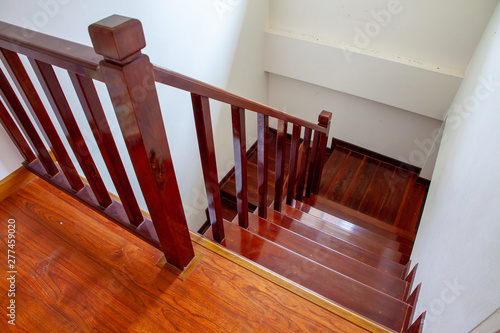 Papiers peints Escalier Interior of stairs, Stairs made of wood inside the house.