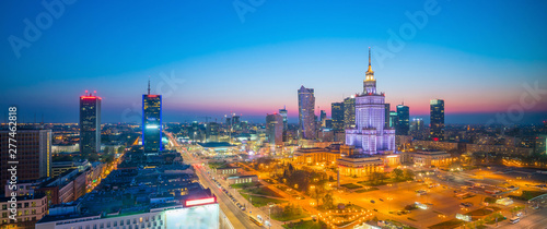 Aerial photo of  Warsaw city skyline - 277462818