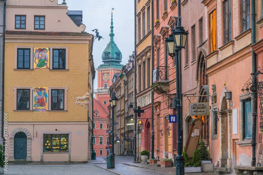 Fototapety, obrazy: Budynki na warszawskim Starym Mieście