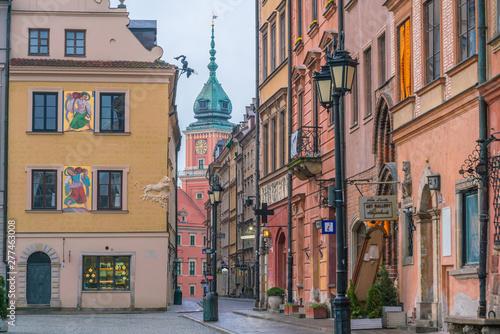 Obraz Budynki na warszawskim Starym Mieście - fototapety do salonu
