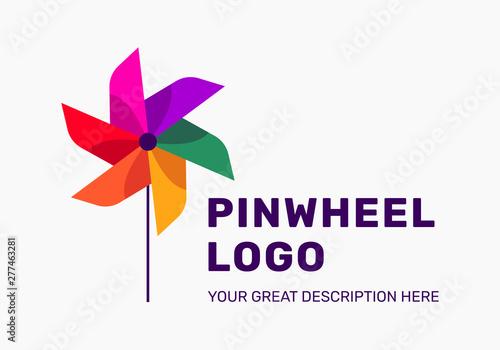 Fotografia, Obraz pinwheel logo