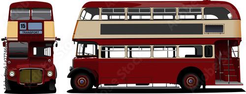 London double Decker  red bus. Vector illustration Fototapet