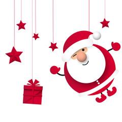 Święty Mikołaj. Boże narodzenie. Ilustracja wektorowa