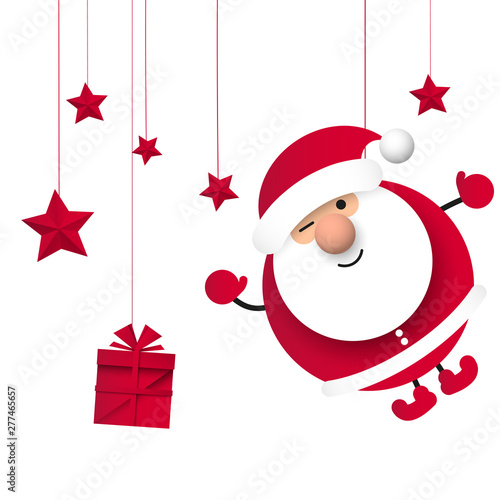 Obraz na plátně Święty Mikołaj. Boże narodzenie. Ilustracja wektorowa