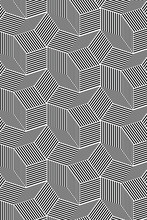 Black And White Pattern With B...