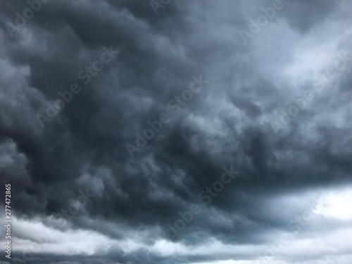 Garden Poster Heaven background of dramatic heavy black clouds